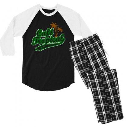 Cafe Tropical Men's 3/4 Sleeve Pajama Set Designed By Meganphoebe
