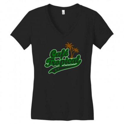 Cafe Tropical Women's V-neck T-shirt Designed By Meganphoebe