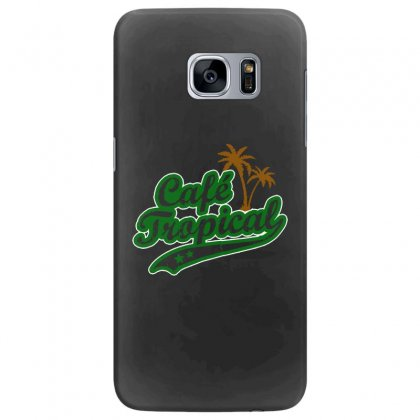 Cafe Tropical Samsung Galaxy S7 Edge Case Designed By Meganphoebe