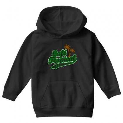 Cafe Tropical Youth Hoodie Designed By Meganphoebe