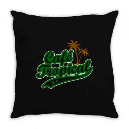 Cafe Tropical Throw Pillow Designed By Meganphoebe
