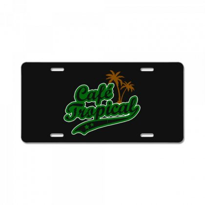 Cafe Tropical License Plate Designed By Meganphoebe