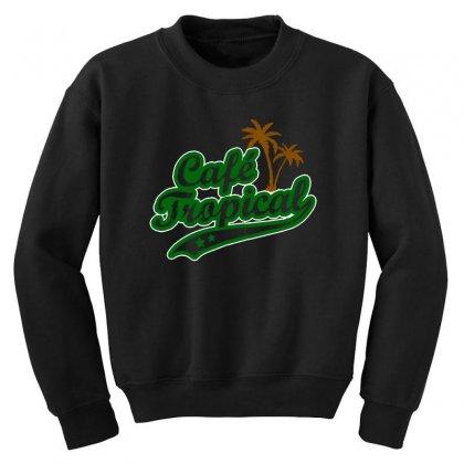 Cafe Tropical Youth Sweatshirt Designed By Meganphoebe