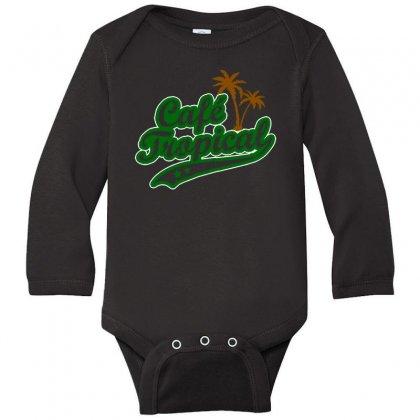 Cafe Tropical Long Sleeve Baby Bodysuit Designed By Meganphoebe