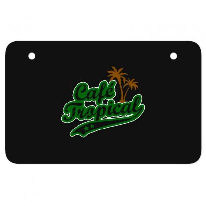 Cafe Tropical Atv License Plate Designed By Meganphoebe
