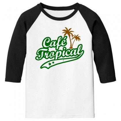 Cafe Tropical Youth 3/4 Sleeve Designed By Meganphoebe