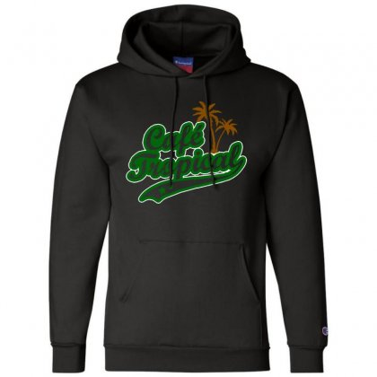 Cafe Tropical Champion Hoodie Designed By Meganphoebe