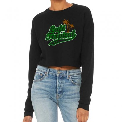 Cafe Tropical Cropped Sweater Designed By Meganphoebe