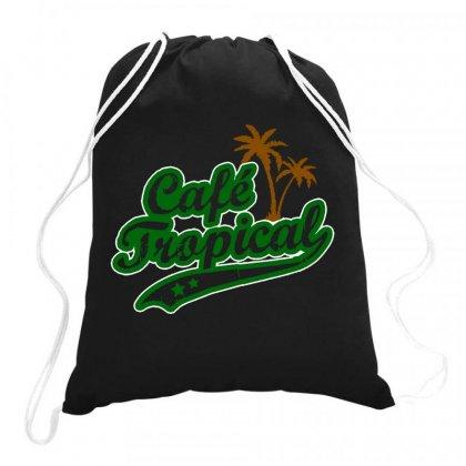 Cafe Tropical Drawstring Bags Designed By Meganphoebe