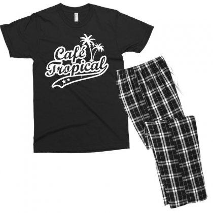 Cafe Tropical In White Men's T-shirt Pajama Set Designed By Meganphoebe