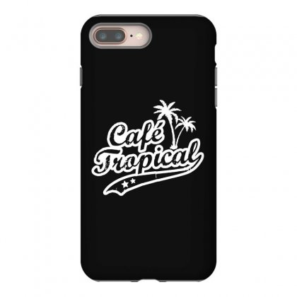 Cafe Tropical In White Iphone 8 Plus Case Designed By Meganphoebe