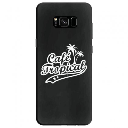 Cafe Tropical In White Samsung Galaxy S8 Case Designed By Meganphoebe