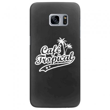 Cafe Tropical In White Samsung Galaxy S7 Edge Case Designed By Meganphoebe