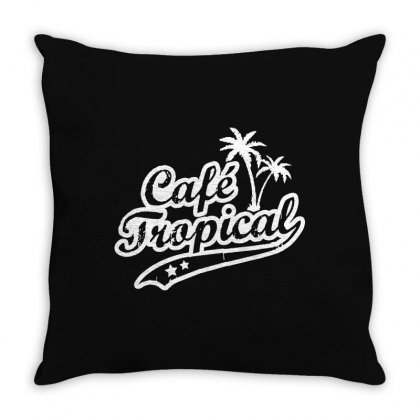 Cafe Tropical In White Throw Pillow Designed By Meganphoebe
