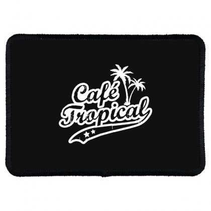 Cafe Tropical In White Rectangle Patch Designed By Meganphoebe