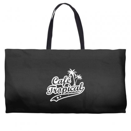 Cafe Tropical In White Weekender Totes Designed By Meganphoebe