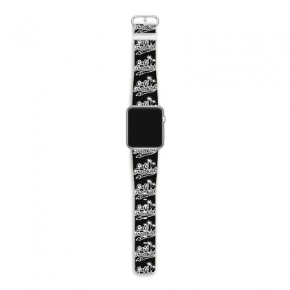 Cafe Tropical In White Apple Watch Band Designed By Meganphoebe