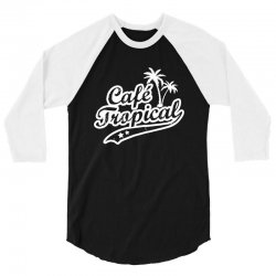 cafe tropical in white 3/4 Sleeve Shirt | Artistshot