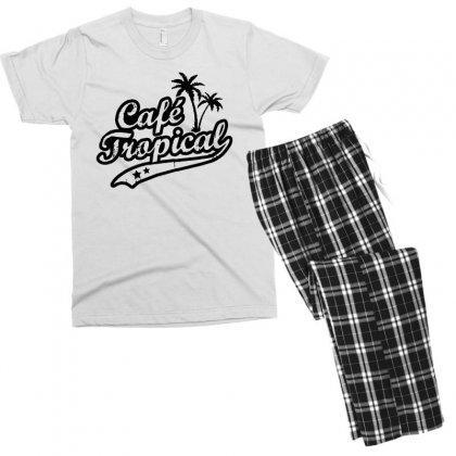 Cafe Tropical In Black Men's T-shirt Pajama Set Designed By Meganphoebe
