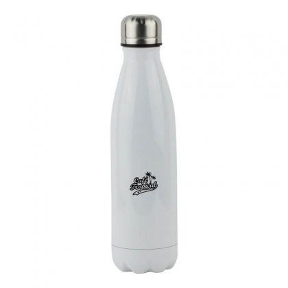 Cafe Tropical In Black Stainless Steel Water Bottle Designed By Meganphoebe