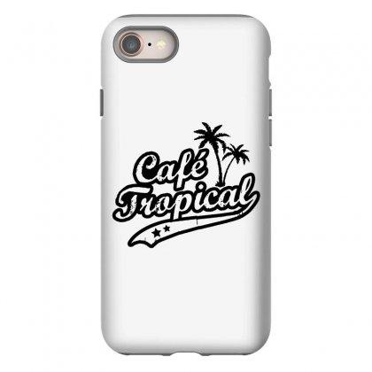 Cafe Tropical In Black Iphone 8 Case Designed By Meganphoebe