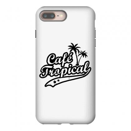 Cafe Tropical In Black Iphone 8 Plus Case Designed By Meganphoebe
