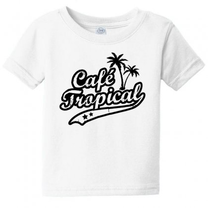Cafe Tropical In Black Baby Tee Designed By Meganphoebe