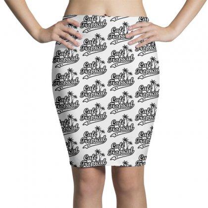 Cafe Tropical In Black Pencil Skirts Designed By Meganphoebe