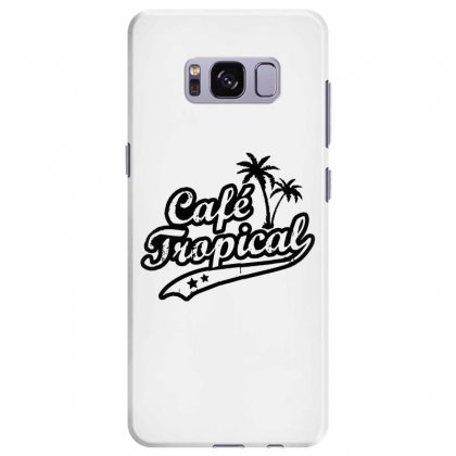 Cafe Tropical In Black Samsung Galaxy S8 Plus Case Designed By Meganphoebe