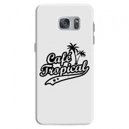 Cafe Tropical In Black Samsung Galaxy S7 Case Designed By Meganphoebe