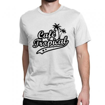 Cafe Tropical In Black Classic T-shirt Designed By Meganphoebe