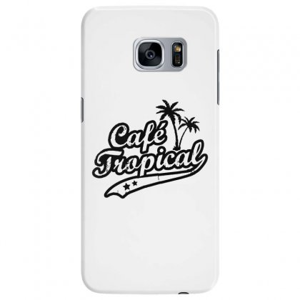 Cafe Tropical In Black Samsung Galaxy S7 Edge Case Designed By Meganphoebe