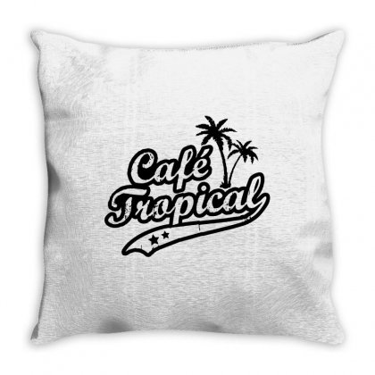 Cafe Tropical In Black Throw Pillow Designed By Meganphoebe