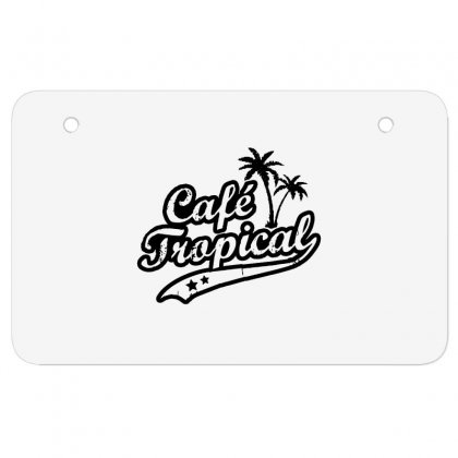 Cafe Tropical In Black Atv License Plate Designed By Meganphoebe