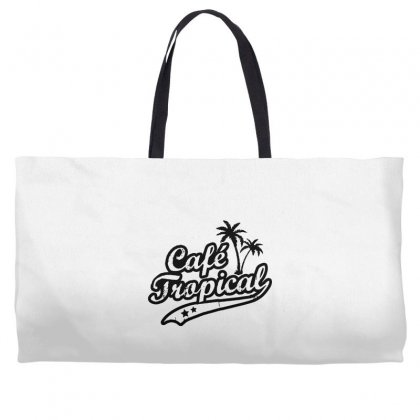 Cafe Tropical In Black Weekender Totes Designed By Meganphoebe