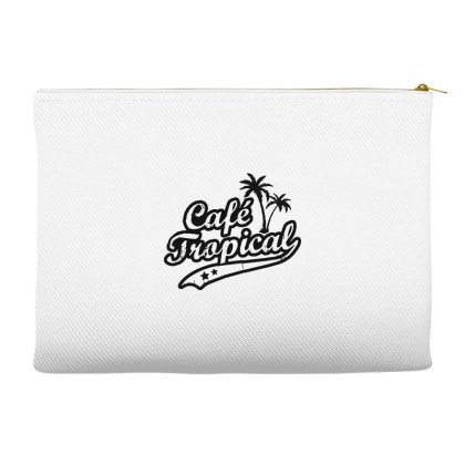 Cafe Tropical In Black Accessory Pouches Designed By Meganphoebe