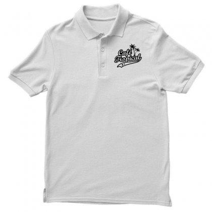 Cafe Tropical In Black Men's Polo Shirt Designed By Meganphoebe