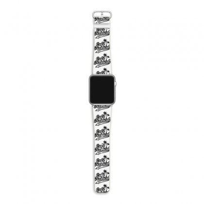 Cafe Tropical In Black Apple Watch Band Designed By Meganphoebe