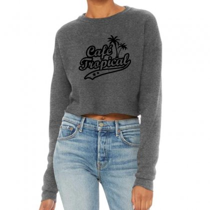 Cafe Tropical In Black Cropped Sweater Designed By Meganphoebe