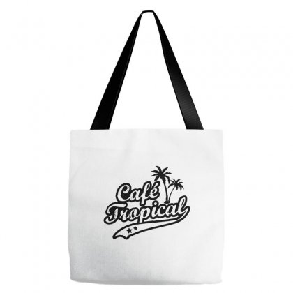 Cafe Tropical In Black Tote Bags Designed By Meganphoebe
