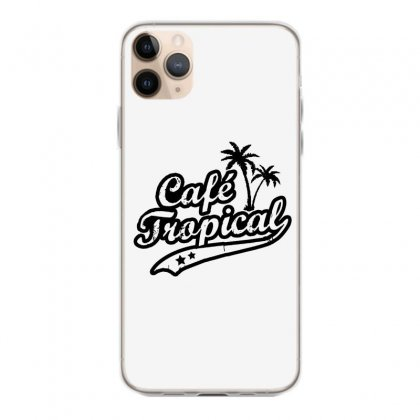 Cafe Tropical In Black Iphone 11 Pro Max Case Designed By Meganphoebe