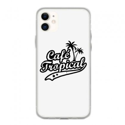 Cafe Tropical In Black Iphone 11 Case Designed By Meganphoebe
