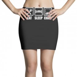 eat sleep code Mini Skirts | Artistshot