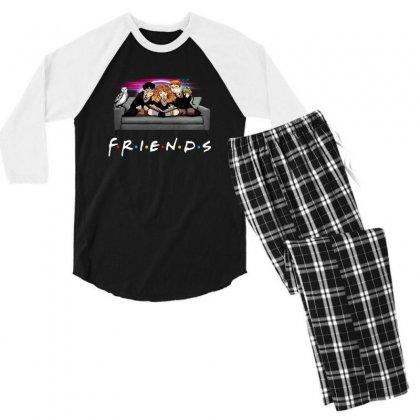 Friends   Harry Potter Family Witch Men's 3/4 Sleeve Pajama Set Designed By Meganphoebe