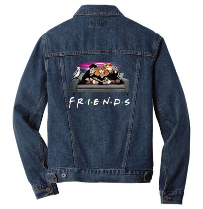Friends   Harry Potter Family Witch Men Denim Jacket Designed By Meganphoebe