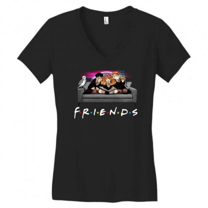 Friends   Harry Potter Family Witch Women's V-neck T-shirt Designed By Meganphoebe