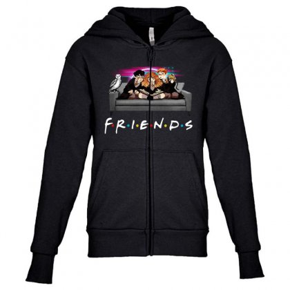 Friends   Harry Potter Family Witch Youth Zipper Hoodie Designed By Meganphoebe