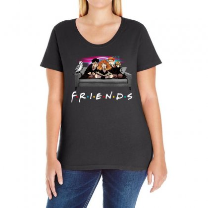 Friends   Harry Potter Family Witch Ladies Curvy T-shirt Designed By Meganphoebe