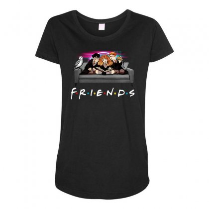 Friends   Harry Potter Family Witch Maternity Scoop Neck T-shirt Designed By Meganphoebe