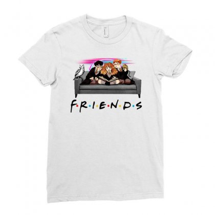 Friends   Harry Potter Family Witch Fan Art Ladies Fitted T-shirt Designed By Meganphoebe